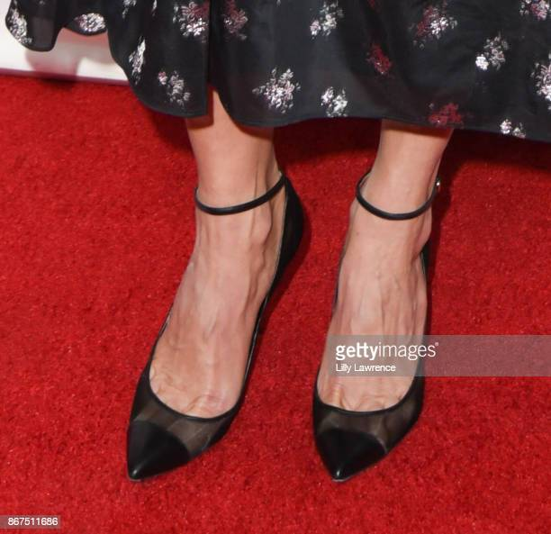 Comedian/TV personality Chelsea Handler, shoe detail, arrives at PEN Center USA's 27th Annual Literary Awards Festival on October 27, 2017 in Beverly...