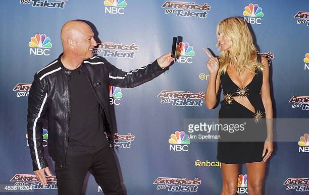 "Comedian/TV personality Howie Mandel and model/TV personality Heidi Klum attend the ""America's Got Talent"" season 10 pre-show red carpet at Radio..."