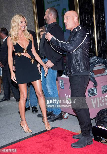 "Comedian/TV personality Howie Mandel and Model/TV personality Heidi Klum attends the ""America's Got Talent"" pre-show red carpet arrivals at Radio..."