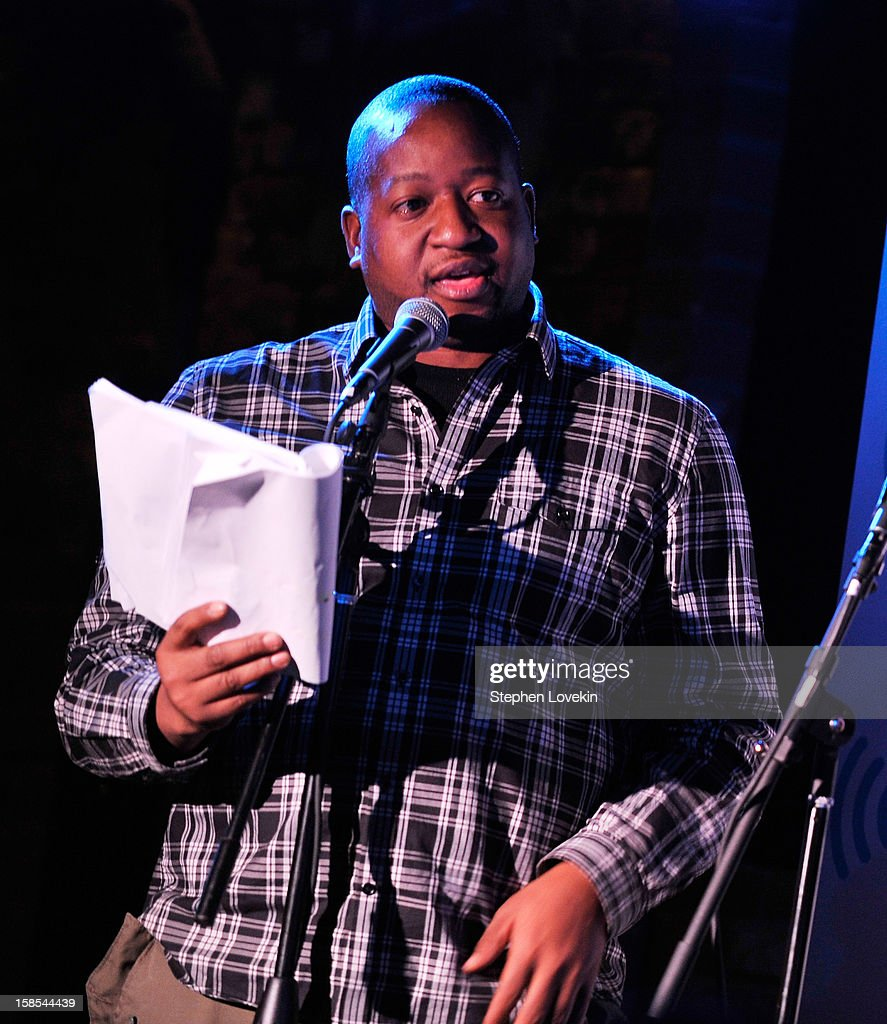 Comedian/TV personality Sherrod Small attends comedian Tom Papa's special Christmas edition of SirusXM's 'Come To Papa' his 'Raw Dog' comedy show on SiriusXM at Village Underground on December 18, 2012 in New York City.