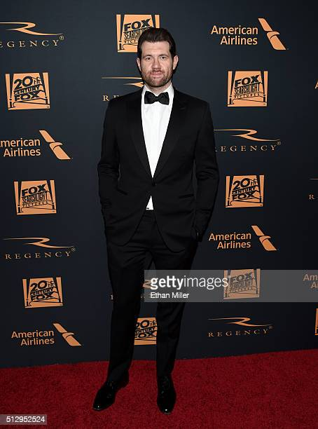 Comedianv Billy Eichner attends the 20th Century Fox Academy Awards after party at Hollywood Athletic Club on February 28 2016 in Hollywood California