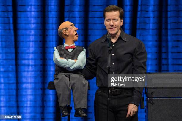 Comedian/ventriloquist Jeff Dunham performs onstage during the 'Passively Aggressive Tour' at the Frank Erwin Center on February 15 2019 in Austin...