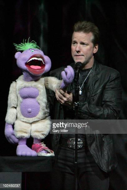 Comedian/ventriloquist Jeff Dunham performs with his dummy Peanut at The Frank Erwin Center on June 26 2010 in Austin Texas