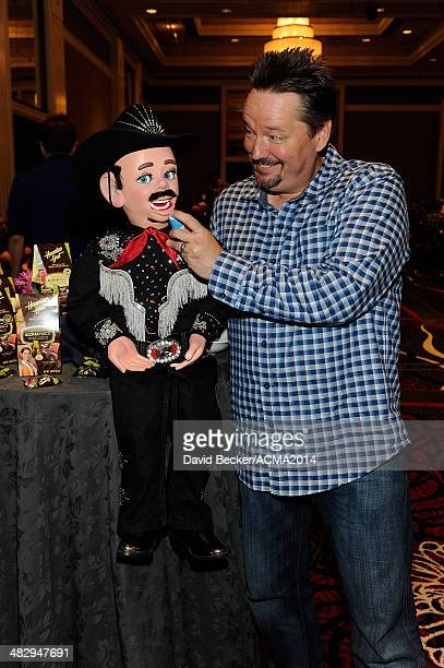 Comedian/ventriloquist Terry Fator attends the 49th Annual Academy of Country Music Awards Artist Appreciation Lounge at the MGM Grand Garden Arena...