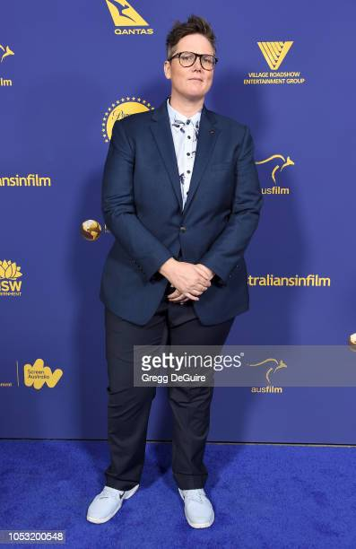 Comedian/writer Hannah Gadsby arrives at the 7th Annual Australians In Film Award Benefit Dinner at Paramount Studios on October 24 2018 in Los...