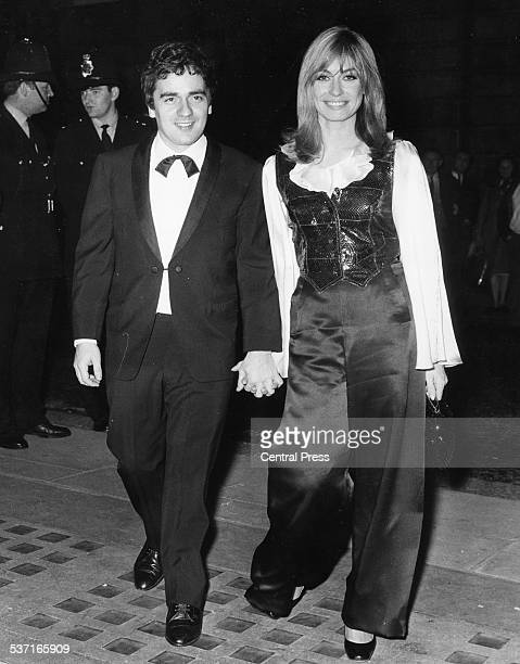 Comedic actor Dudley Moore and actress Suzy Kendall arriving hand in hand at the premiere of 'The Penthouse' Curzon Cinema London September 29th 1967