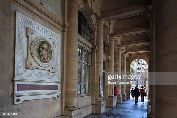 comedie francaise or french theater - palais royal stock pictures, royalty-free photos & images