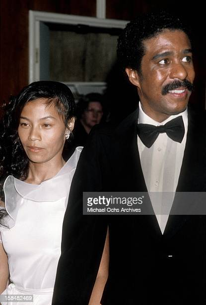 Comedien and actor Richard Pryor and guest attend the 53rd Annual Academy Awards at the Dorothy Chandler Pavillion on March 31 1981 in Los Angeles...
