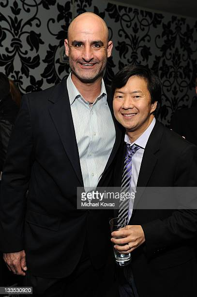 Comedien Brody Stevens and actor Ken Jeong pose in the VIP Lounge at Variety's Power of Comedy Presented By The Sims 3 Benefiting The Noreen Fraser...