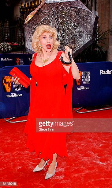 Comedien Faith Brown arrives at the The British Academy Television Awards at the Grosvenor House Hotel on April 18 2004 in London