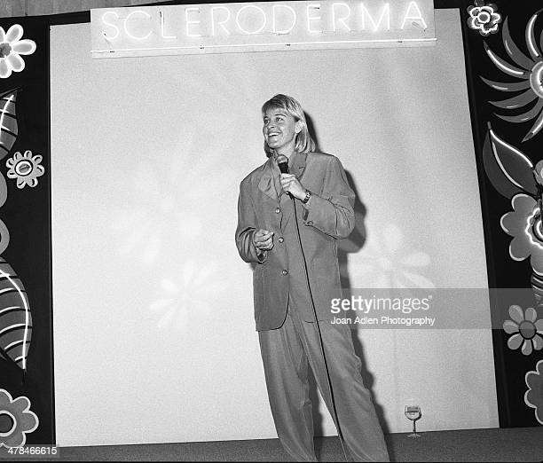 Comedienne and television personality Ellen DeGeneres performs for the 4th annual Scleroderma Research Foundation benefit dinner on June 09 1991 at...