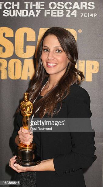 Comedienne Angie Greenup at the 1st Annual Oscar Statuette Nationwide Tour Los Angeles event for the firstever Oscar Roadtrip on February 22 2013 in...
