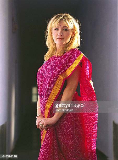 Comedienne Caroline Aherne at the Shree Bhairav Eye Hospital during a visit to promote the work of Sight Savers in February 1999 in Rajasthan India...