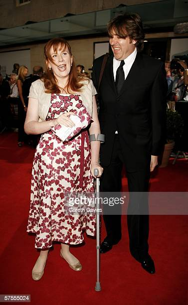 Comedienne Catherine Tate and presenter Jonathan Ross arrive at the Pioneer British Academy Television Awards 2006 at the Grosvenor House Hotel on...