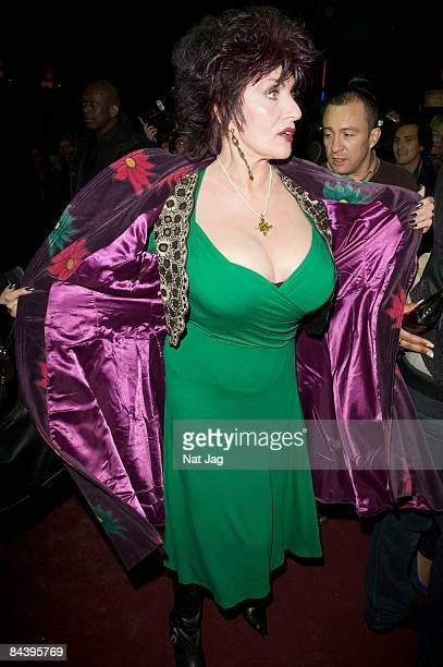 Comedienne Faith Brown arrives at the Thriller Live Press Night at the Lyric Theatre on January 21 2009 in London England