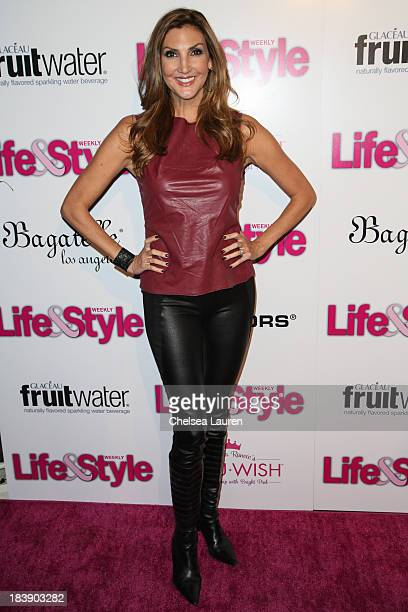 Comedienne Heather McDonald arrives at Life Style's Hollywood in Bright Pink event hosted by Giuliana Rancic at Bagatelle on October 9 2013 in Los...