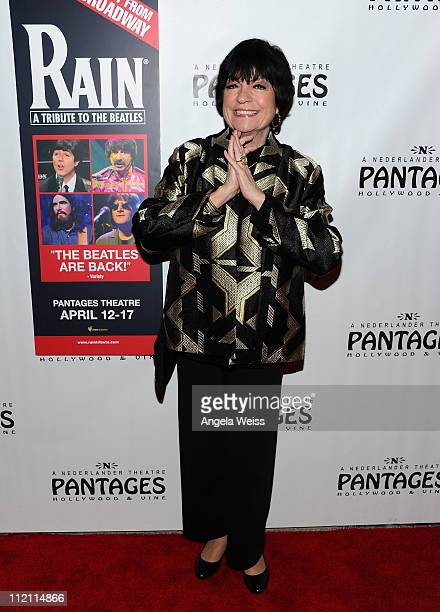 Comedienne Jo Anne Worley arrives at the opening night of 'Rain A Tribute To The Beatles' at the Pantages Theatre on April 12 2011 in Hollywood...