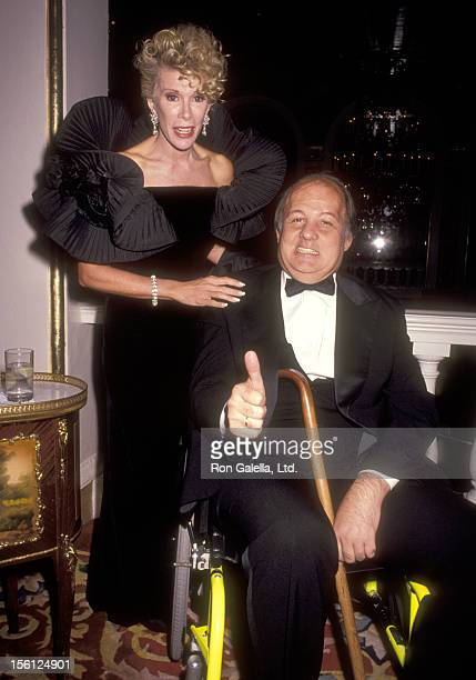 Comedienne Joan Rivers and politician James Brady attend The National Victim Center Awards Honors James Brady and Jean MacArthur on September 30 1991...