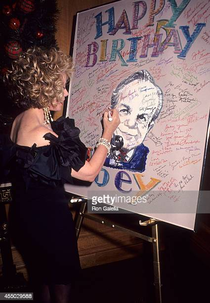 Comedienne Joan Rivers attends Joey Adams' 80th Birthday Party on January 7 1991 at the New York Helmsley Hotel in New York City