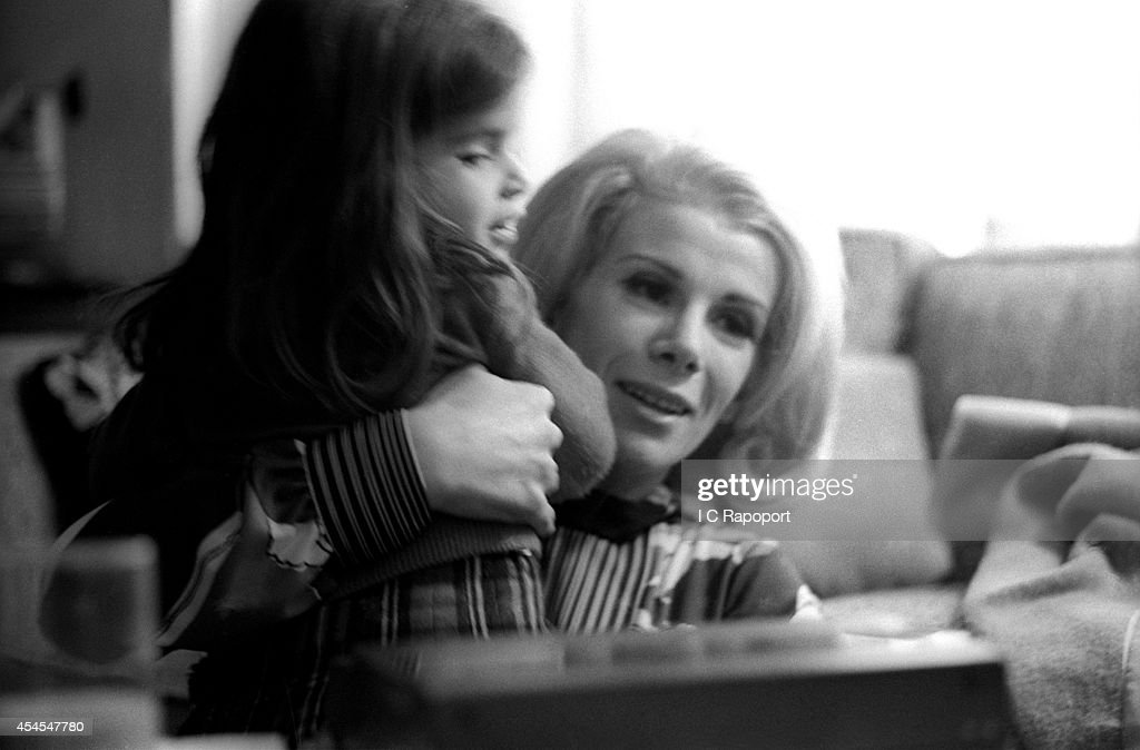 Comedienne Joan Rivers with daughter Melissa at home in November 1970 in New York City, New York.