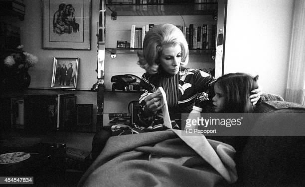 Comedienne Joan Rivers with daughter Melissa at home in November 1970 in New York City New York