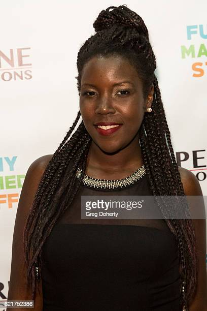 Comedienne Jonnae Thompson arrives for the Screening Of Perrine Productions' 'Funny Married Stuff' at the ACME Comedy Theatre on November 7 2016 in...