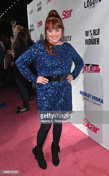 Comedienne Julie Brown arrives to the premiere of RuPaul's Drag Race Season 5 at The Abbey on January 22 2013 in West Hollywood California