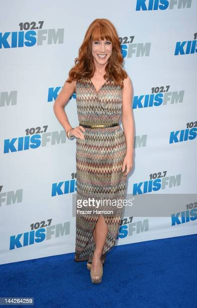 Comedienne Kathy Griffin arrives at 1027 KIIS FM's Wango Tango at The Home Depot Center on May 12 2012 in Carson California