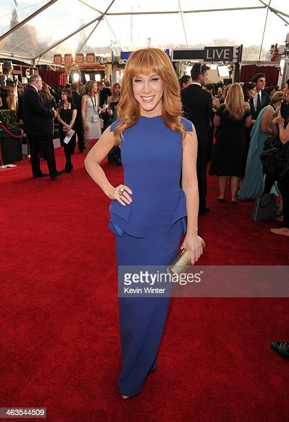 Comedienne Kathy Griffin attends 20th Annual Screen Actors Guild Awards at The Shrine Auditorium on January 18 2014 in Los Angeles California