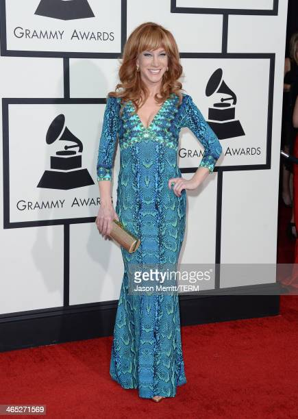 Comedienne Kathy Griffin attends the 56th GRAMMY Awards at Staples Center on January 26 2014 in Los Angeles California