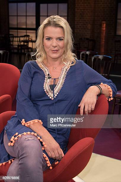 Comedienne Mirja Boes attends the 'Koelner Treff' TV Show at the WDR Studio on September 23 2016 in Cologne Germany