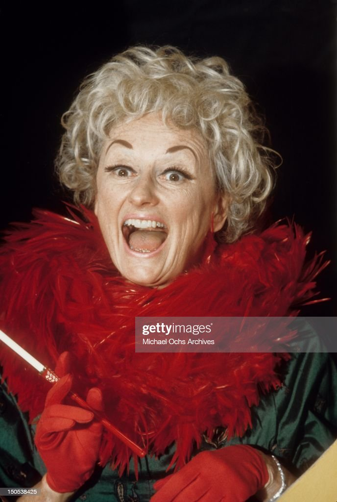 Comedienne Phyllis Diller performs on 'Rowan & Martin's Laugh-In' in October 1968 in Los Angeles, California.