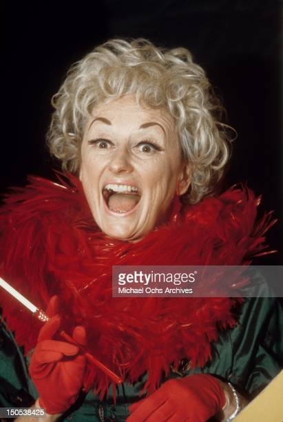 Comedienne Phyllis Diller performs on 'Rowan Martin's LaughIn' in October 1968 in Los Angeles California