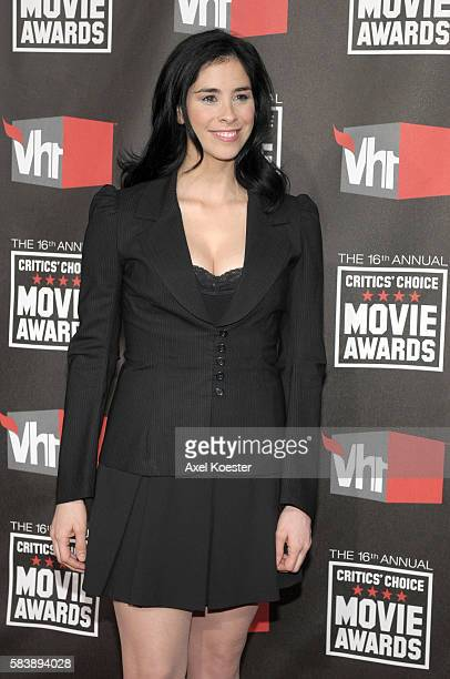 Comedienne Sarah Silverman arrives to the 16th Annual 'Critics' Choice Movie Awards' held at the Hollywood Palladium Friday evening