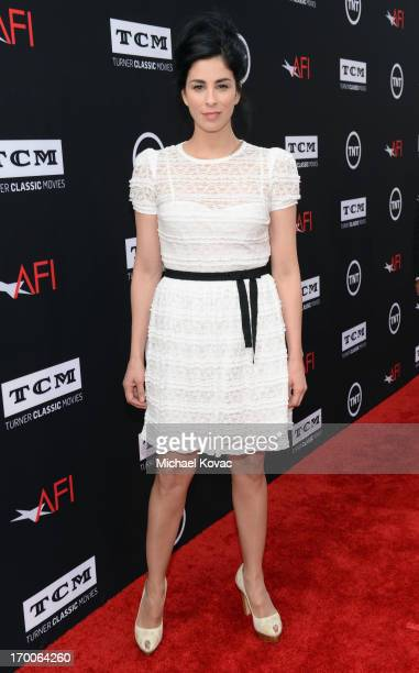 Comedienne Sarah Silverman attends 41st AFI Life Achievement Award Honoring Mel Brooks at Dolby Theatre on June 6, 2013 in Hollywood, California....