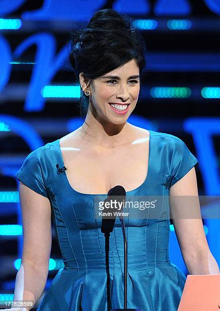 Comedienne Sarah Silverman speaks onstage during The Comedy Central Roast of James Franco at Culver Studios on August 25, 2013 in Culver City,...