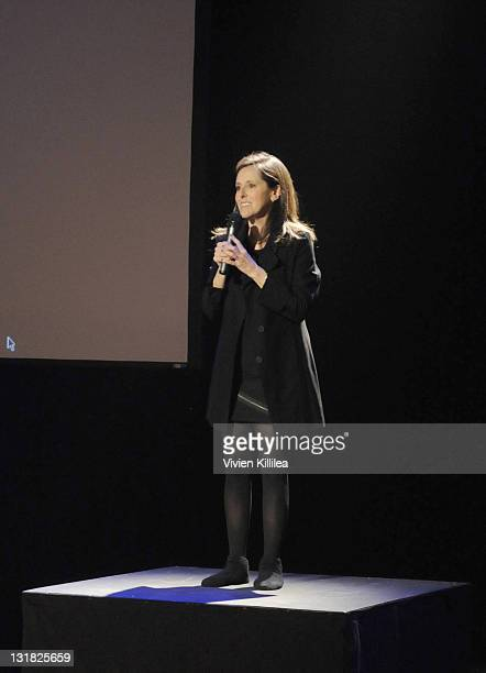 Comedienne Wendy Liebman performs at the Playmate Of The Year Comedy Event With Wendy Liebman at El Portal Theatre on March 12 2011 in North...