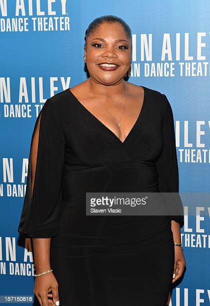 Comedienne/actress Mo'Nique attends the Alvin Ailey American Dance Theater Opening Night Gala at New York City Center on November 28 2012 in New York...