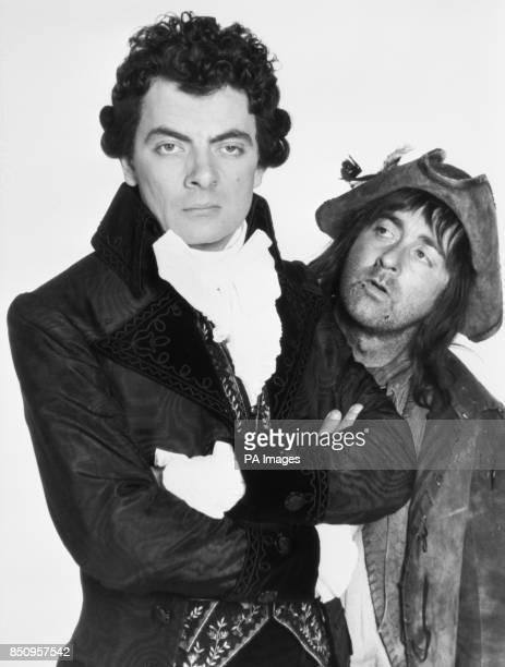 Comedy actors Rowan Atkinson and Tony Robinson as Blackadder and Baldrick in Blackadder III