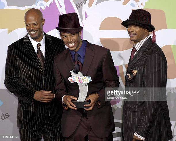 Comedy Awards Press Room in Pasadena United States on September 28 2004 Keenen Ivory Wayans Marlon Waynes and Damon Waynes at the BET Comedy Awards...