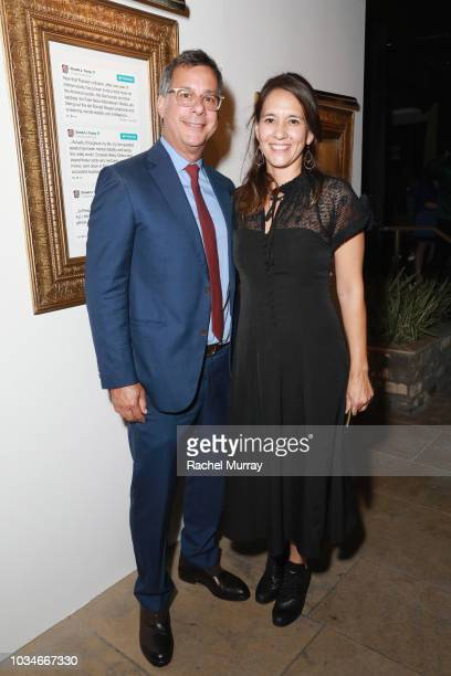 Comedy Central President Kent Alterman and Michele Brennan attend Comedy Central's Emmys Party at The Highlight Room at the Dream Hotel on September...