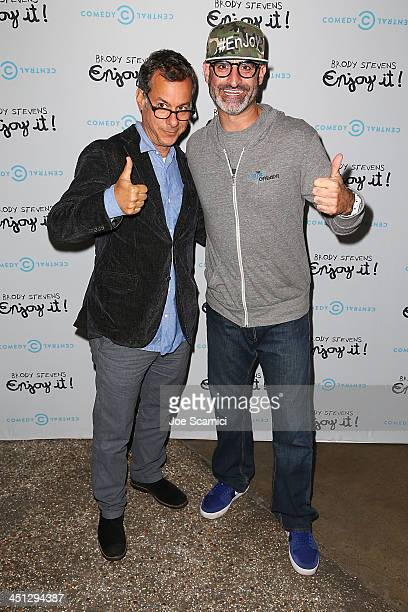 Comedy Central's President of Programming Kent Alterman and Comedian Brody Stevens arrive at the Brody Stevens Enjoy It Premiere Party at Smogshoppe...
