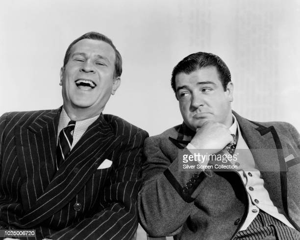 Comedy duo Bud Abbott and Lou Costello in a publicity still for the comedy film 'Bud Abbott and Lou Costello In Hollywood' 1945
