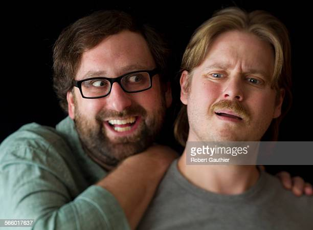 HOLLYWOOD CA MONDAY FEBRUARY 20 2012 – Comedy duo Eric Wareheim left and Tim Heidecker have teamed up to write direct and star in Tim Eric's Billion...