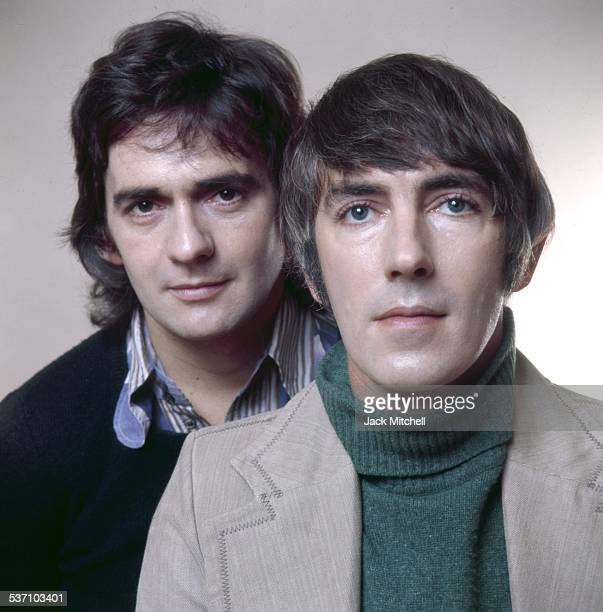 Comedy duo Peter Cook and Dudley Moore photographed in 1973 when they were starring in their revue Good Evening on Broadway