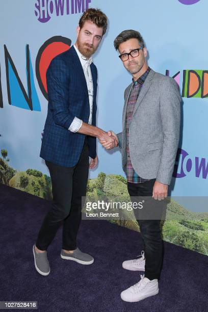 Comedy duo Rhett and Link attends the premiere of Showtime's Kidding at The Cinerama Dome on September 5 2018 in Los Angeles California
