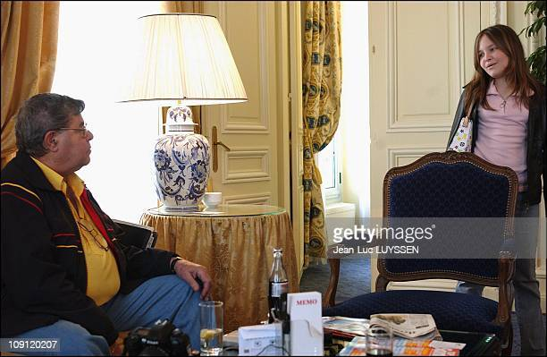 Comedy Great Jerry Lewis In Paris On April 15 2004 In Paris France Jerry Lewis With His Adopteved Daughter DanielleSarah In His Suite At The...