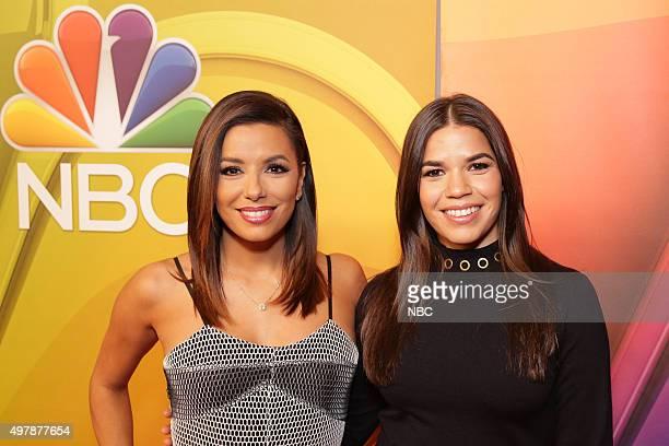 EVENTS NBC Comedy Press Junket Pictured Eva Longoria Telenovela America Ferrera Superstore