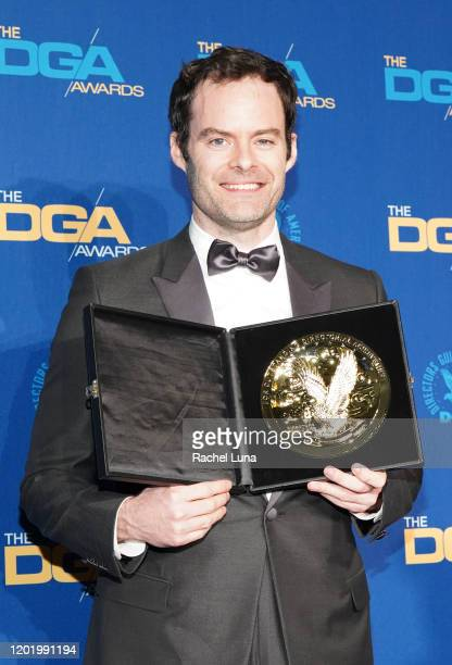 Comedy Series Award winner for 'Barry' Bill Hader poses in the press room during the 72nd Annual Directors Guild Of America Awards at The Ritz...