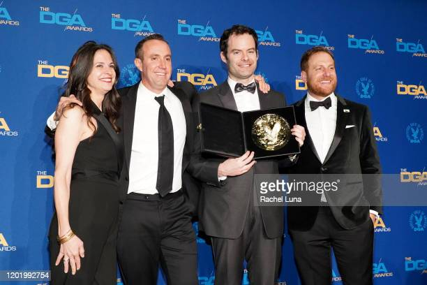 DGA Comedy Series Award winners for 'Barry' Aida Rodgers Gavin Kleintop Bill Hader and Kevin Zelman pose in the press room during the 72nd Annual...